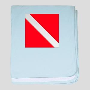 Dive Flag 1 baby blanket