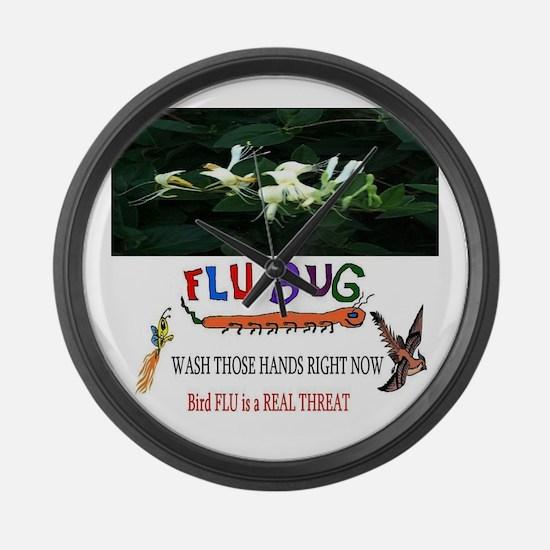 2013 Bird Flu Outbreak Large Wall Clock