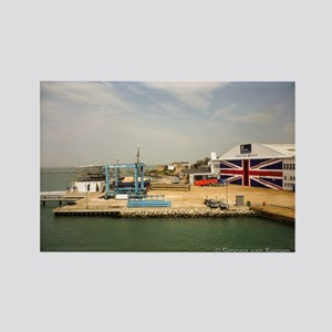 Isle of Wight Union Jack Doors Rectangle Magnet