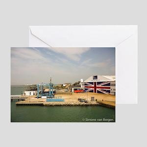 Isle of Wight Union Jack Doors Greeting Card