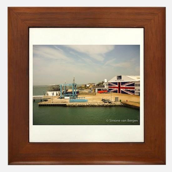Isle of Wight Union Jack Doors Framed Tile