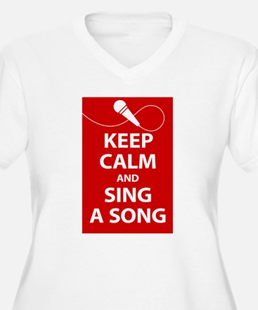 Keep calm and sing a song. Carry a tune. Plus Size
