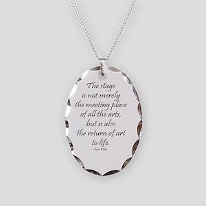 Oscar Wilde Necklace Oval Charm
