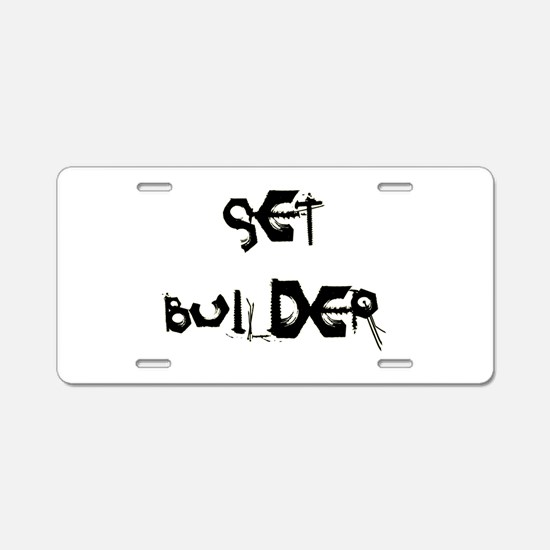 Set Builder Aluminum License Plate