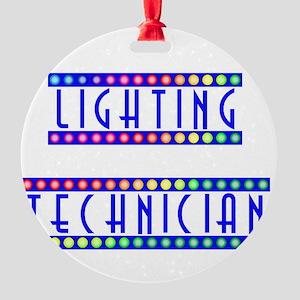 light2 Round Ornament