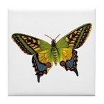 Green Butterfly Tile Coaster