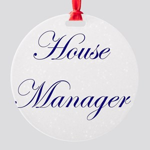 House Round Ornament