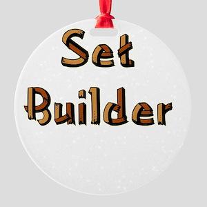 setbuilderblack Round Ornament