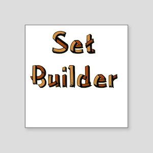 """setbuilderblack Square Sticker 3"""" x 3"""""""