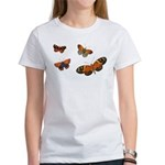 Orange Butterflies Women's T-Shirt