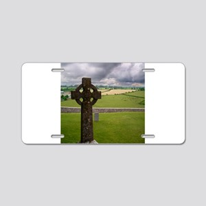 cross1 Aluminum License Plate