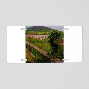 Irish fence Aluminum License Plate