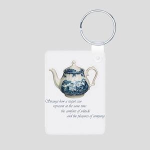 teapot Aluminum Photo Keychain
