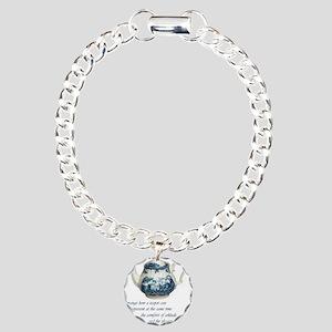 teapot Charm Bracelet, One Charm