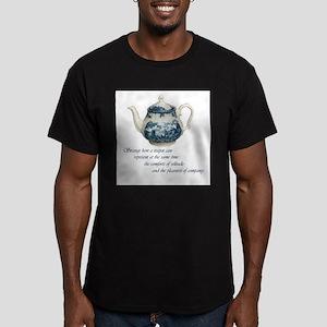 teapot Men's Fitted T-Shirt (dark)