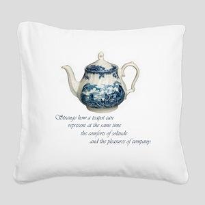 teapot Square Canvas Pillow