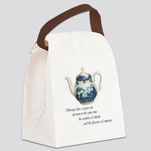 teapot Canvas Lunch Bag