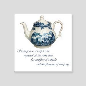 "teapot Square Sticker 3"" x 3"""