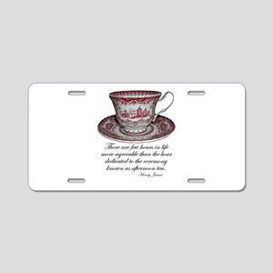 Afternoon Tea Aluminum License Plate