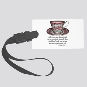 Afternoon Tea Large Luggage Tag