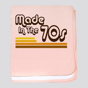 'Made in the 70s' baby blanket