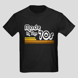 'Made in the 70s' Kids Dark T-Shirt