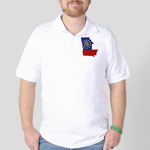 Georgia Flag Golf Shirt