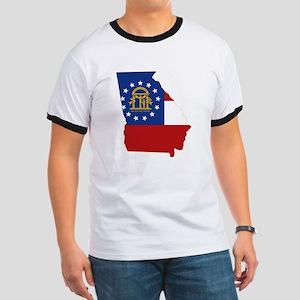 Georgia Flag Ringer T