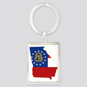 Georgia Flag Portrait Keychain