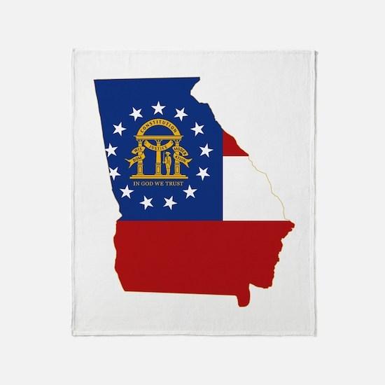Georgia Flag Throw Blanket