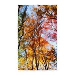 Autumn Trees Oil Painting 3'x5' Area Rug
