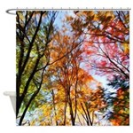 Autumn Trees Oil Painting Shower Curtain