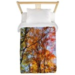 Autumn Trees Oil Painting Twin Duvet Cover
