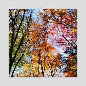 Autumn Trees Oil Painting Queen Duvet Cover