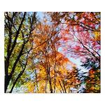 Autumn Trees Oil Painting King Duvet Cover