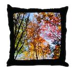 Autumn Trees Oil Painting Throw Pillow