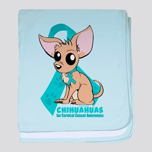 Chihuahuas for Cervical Cancer baby blanket