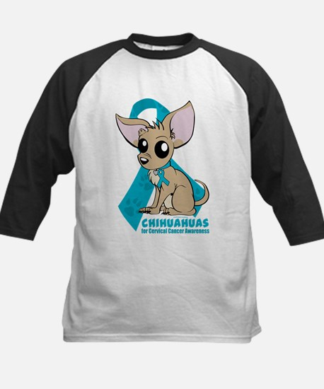 Chihuahuas for Cervical Cancer Baseball Jersey