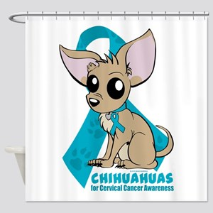 Chihuahuas for Cervical Cancer Shower Curtain
