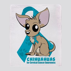 Chihuahuas for Cervical Cancer Throw Blanket