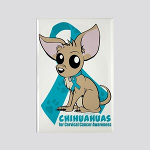 Chihuahuas for Cervical Cancer Rectangle Magnet