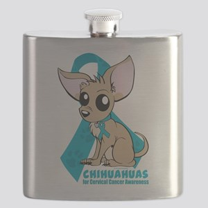 Chihuahuas for Cervical Cancer Flask