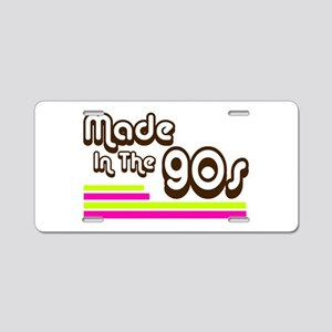 'Made in the 90s' Aluminum License Plate