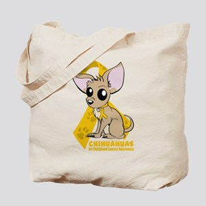 Chihuahuas for Childhood Cancer Tote Bag