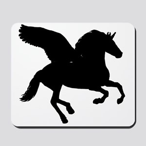 Winged Unicorn Silhouette Mousepad