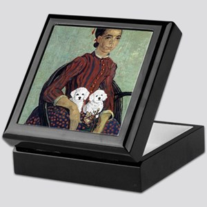 White Puppies Keepsake Box