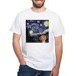 Starry Night White T-Shirt