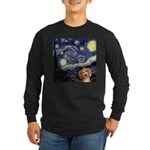 Starry Night Long Sleeve Dark T-Shirt
