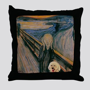 Bichon Scream Throw Pillow