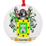 Cabellos Round Ornament